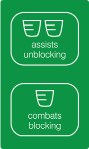 Assists unblocking and combats blocking